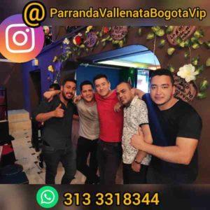 Integrantes de la Parranda Vallenata Vip Bogotá